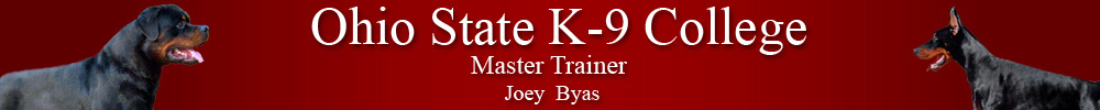 Ohio State K-9 College Master Trainer Joey Byas